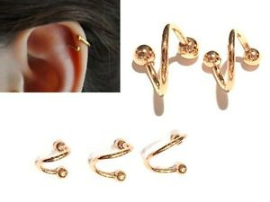 Image Is Loading 16g 14g Rose Gold Ip Single Spiral Twister