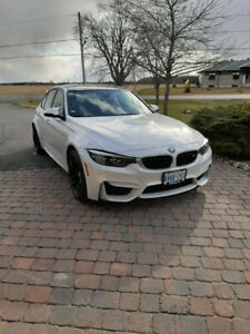 BMW M3, 2018, 4 door Sedan, color mineral white. 5700 km.