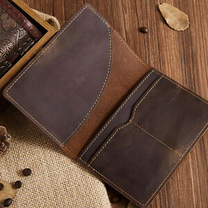 5db920178 Image is loading 2019-Classic-Brown-Bag-Leather-Passport-Wallet-Holder-