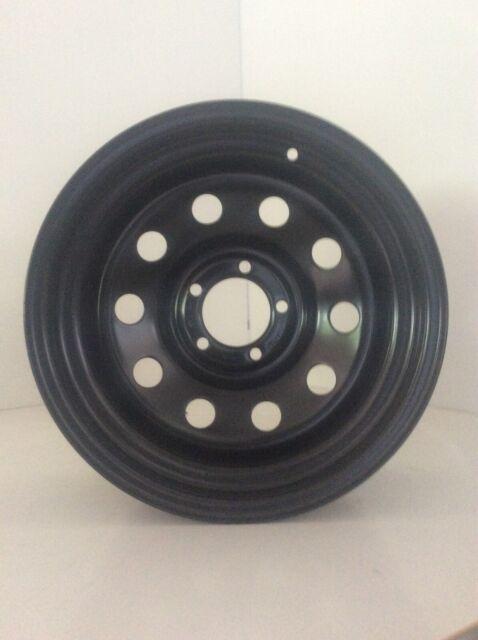 "Dynamic 15x8"" Circle Hole 4X4 hilux Steel Wheel 5x114.3 -10 Black"