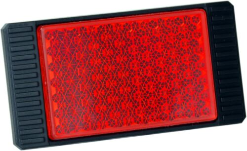 Réflecteur Réflecteur Catadioptre Rouge 82 x 44 mm auto-adhésif HR Art 14043