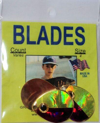 Custom #4 Colorado Blade Gold-Plated Pink//Chart  BLDRC15 3 Pks of 3 = 9 Blades