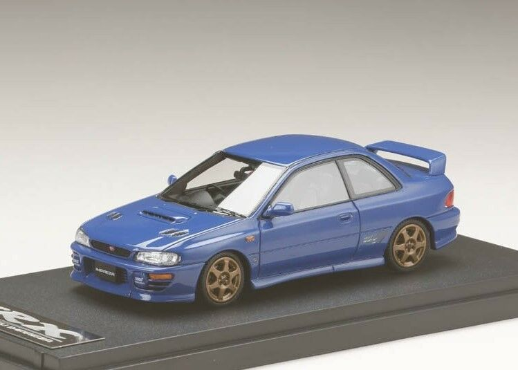 Mark 43 PM4357SBL 1 43 Subaru Impreza WRX STI versión 1997 Deportes rueda Typer blu
