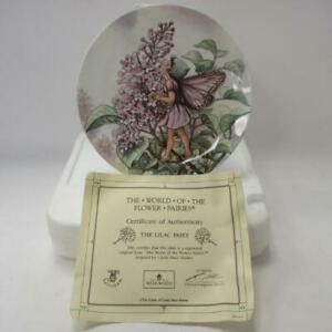 Wedgwood-Bone-Chine-Collectors-Plate-The-Lilac-Fairy-from-034-Flower-Fairies-034