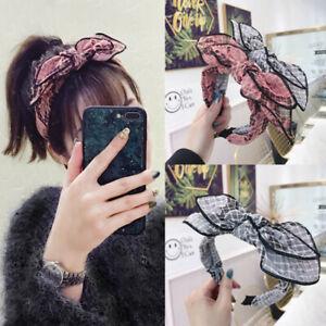 Fashion-Women-039-s-Tie-Headband-Hairband-Wide-Knot-Ear-Hair-Hoop-Band-Accessories