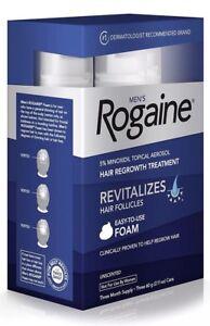 NEW Men's Rogaine Foam Hair Regrowth Treatment Three Month Supply Exp:07/2019