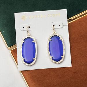 Kendra scott Elle Earrings Blue Cat's Eye in Gold