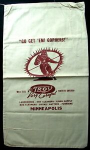 Circa 1930 S Go Get Em Minnesota Gophers Troy Co Minneapolis Laundry Bag Ebay