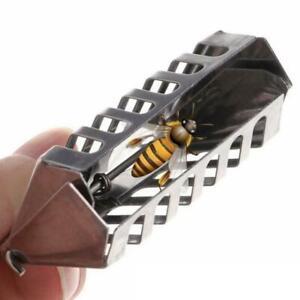 Bee-Clip-Cage-Stainless-Steel-Queen-Beekeeping-Tools-Equipment-Accessories