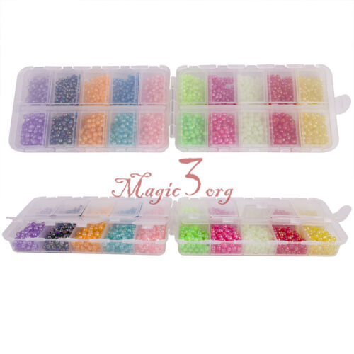 Carp Fishing Beads Tackle Box 4-5mm Floating Glow Beans Mixed Color Stoppers Egg
