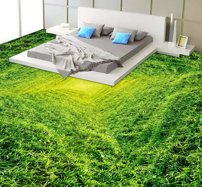 3D Grün Grassland Tower Floor WallPaper Murals Wall Print Decal 5D AJ WALLPAPER