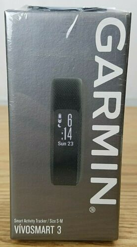Black for sale online Garmin Vivosmart 3 Activity Tracker Size S//M