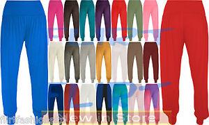 Da-Donna-Ali-Baba-Legging-ALADDIN-piena-lunghezza-Baggy-Hareem-Pantaloni-Pantaloni-8-10-12-14