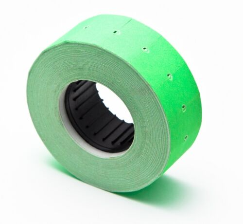 10.000 pices size 21x12mm Green Labels w// ink roller Motex MX5500 Fl