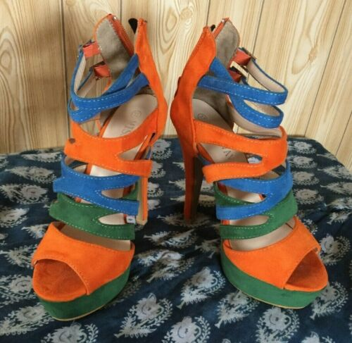 À Miss forme 37 Pointure Chaussures Couleur Multicolore Vava Plate TPdHHnOIx