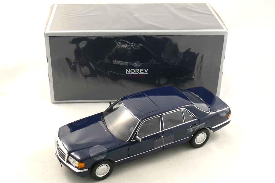 NOREV 1991 MERCEDES BENZ 560 SEL W126 bleu foncé 1 18New objet