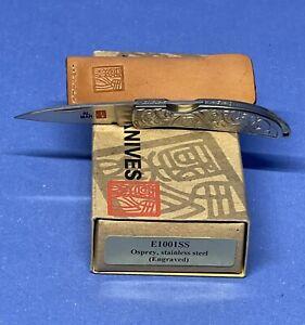 Al Mar collectible folding pocket knife Osprey E1001SS engraved Valade