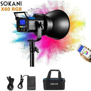 SOKANI X60 RGB LED Video Light 80W COB Daylight 2800k-10000K CRI96+ APP Control