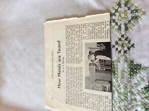 m11b ephemera 1956 article how metals are tested w t avery ltd - Leicester, United Kingdom - Returns accepted Most purchases from business sellers are protected by the Consumer Contract Regulations 2013 which give you the right to cancel the purchase within 14 days after the day you receive the item. Find out more abou - Leicester, United Kingdom