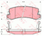 Für Lexus Es300 Rx300 3.0 1991-2003 Neu Hintere Bremsbeläge Satz 446648010