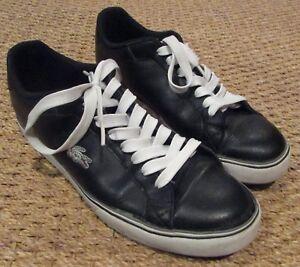 LACOSTE-MARLING-SPM-Men-039-s-Low-Casual-Shoes-Black-Dark-Grey-White-Sneaker-Size-9