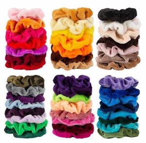 UK-10Pcs-Elastic-Hair-Scrunchies-Hair-Ties-Hair-Bands-Gorgeous-Accessories-Lot