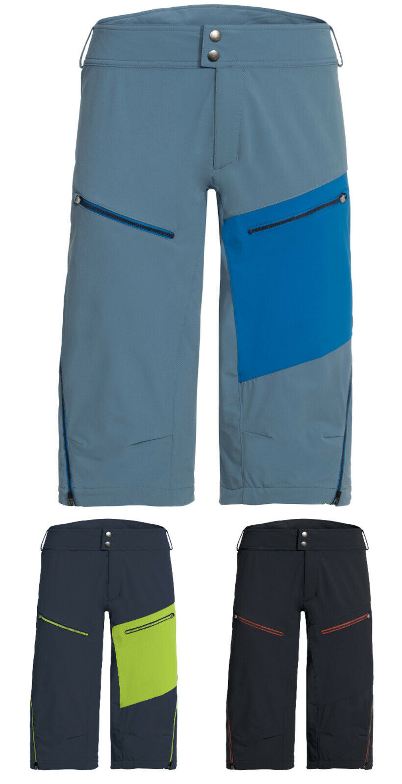 Vaude enduro shorts De los hombres Moab shorts III  bicicleta pantalones señores bikeshorts Cycling culotte  tienda en linea