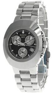 RADO Diastar Black Dial Chronograph S-Steel Men's Watch R12638163