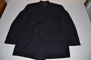Marineblauwe Polo Heren Lauren Pinstriped 42r Ralph Breasted Double Blazer Maat kZXiuP