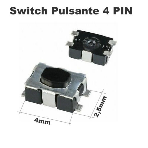 COMPATIBILE con MICRO PULSANTE SWITCH PEUGEOT 207 CHIAVE 307 308 408 4 PIN nz