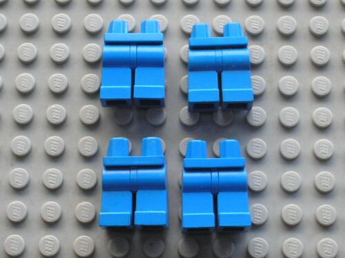 4 x Jambe pour personnage LEGO Minifig blue Hips and Legs 970c00 bleu