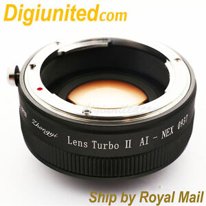 Zhongyi-Lens-Turbo-II-Reducer-Booster-Nikon-F-AI-G-to-Sony-E-Adapter-NEX-7-A6300