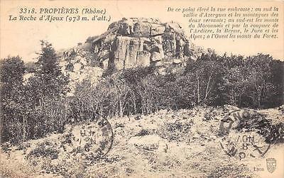 Cpa 69 Proprieres La Roche D'ajoux
