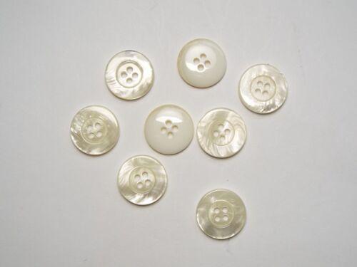 8pc 20 Mm Verser Crème Fausse Effet de carapace Knitwear Cardigan 4 bouton trou 1409