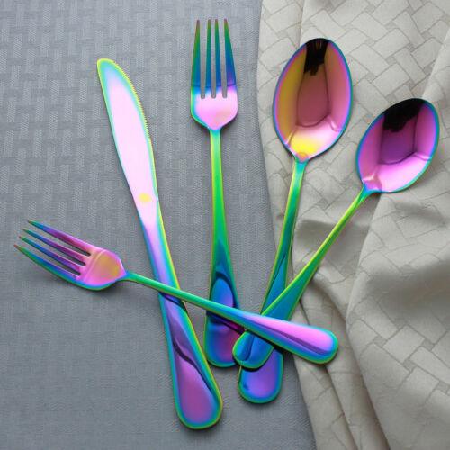 20-Piece Iridescence Rainbow Flatware Cutlery Set Stainless Steel Siverware set