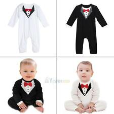 Newborn Kids Baby Boys Outfits Sets Jumpsuit Romper Bodysuit Gentleman Clothes