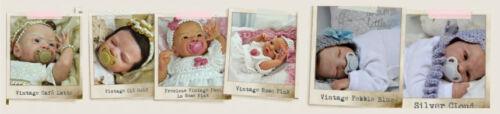 Honeybug VINTAGE Magnetic Pacifier reborn art doll baby newborn PEBBLE BLUE