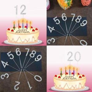 Diamante-Rhinestone-Gem-Cake-Pick-Birthdays-Anniversary-Silver-Numbers-Toppers