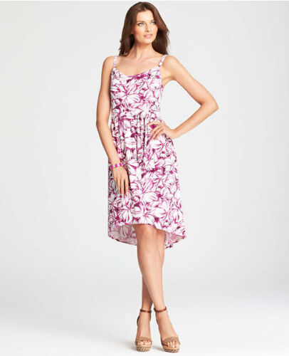 Tropisches Blumenmuster Gürtel Trägerkleid Mit Taylor Spaghetti Lila Ann Medium qntH4OzB