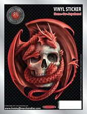 Dragon and Skull Embrace Car Sticker - Auto Decal - Anne Stokes