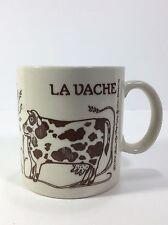 Taylor & NG La Bulle La Vache Coffee Mug 1978 Vtg Brown & Cream Bull Cow Japan