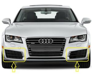 Genuine-Audi-A7-10-14-conjunto-par-Parrilla-Inferior-Parachoques-delantero-izquierda-derecha