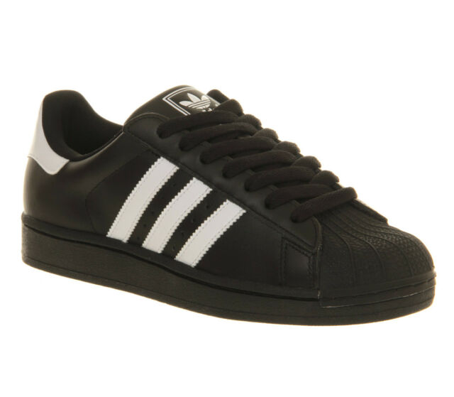 adidas Superstar 2 Trainers Leather Black