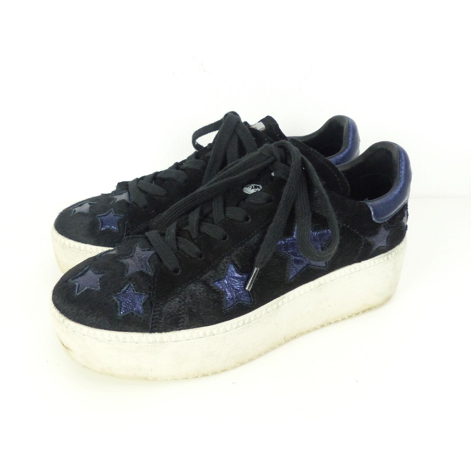 ASH Plateau Sneaker Cult Star Fell Stars Blau-Schwarz Gr. EUR 39 (K21)