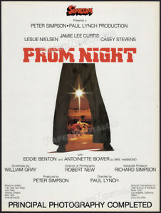 PROM NIGHT__Original 1979 early Trade AD / poster__Jamie Lee Curtis__1980 horror