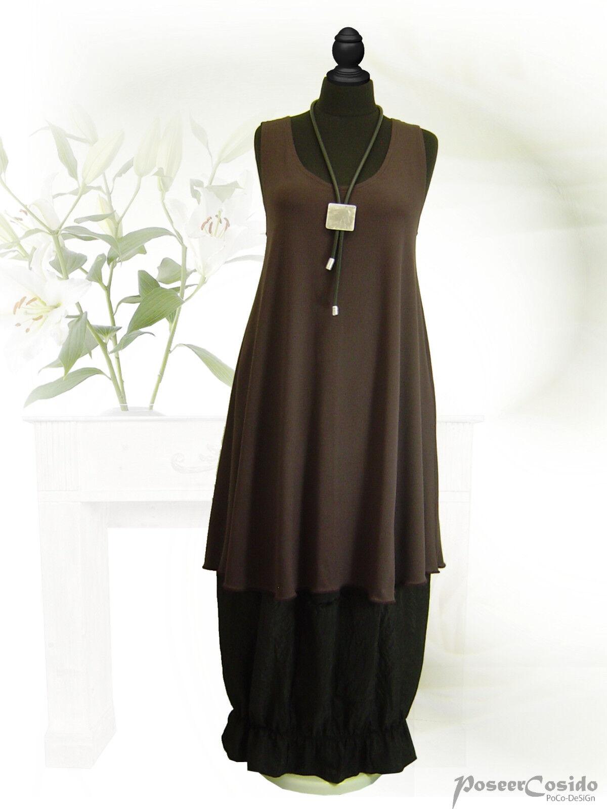 PoCo DeSiGn LAGENLOOK Top Tunika Long-Shirt Zwischenteil 100 cm L-XL-XXL-XXXL