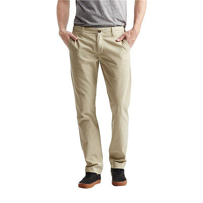 aeropostale mens solid slim-straight flat-front chinos