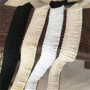 2Yards-White-Black-Cotton-Fringe-Tassel-Trims-0-78-034-Width-High-Quality
