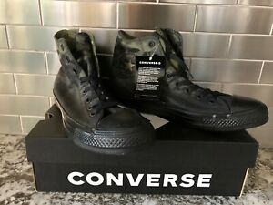 Converse-Mens-CTAS-Hi-163241C-Field-Surplus-Black-Camo-Men-039-s-Size-9