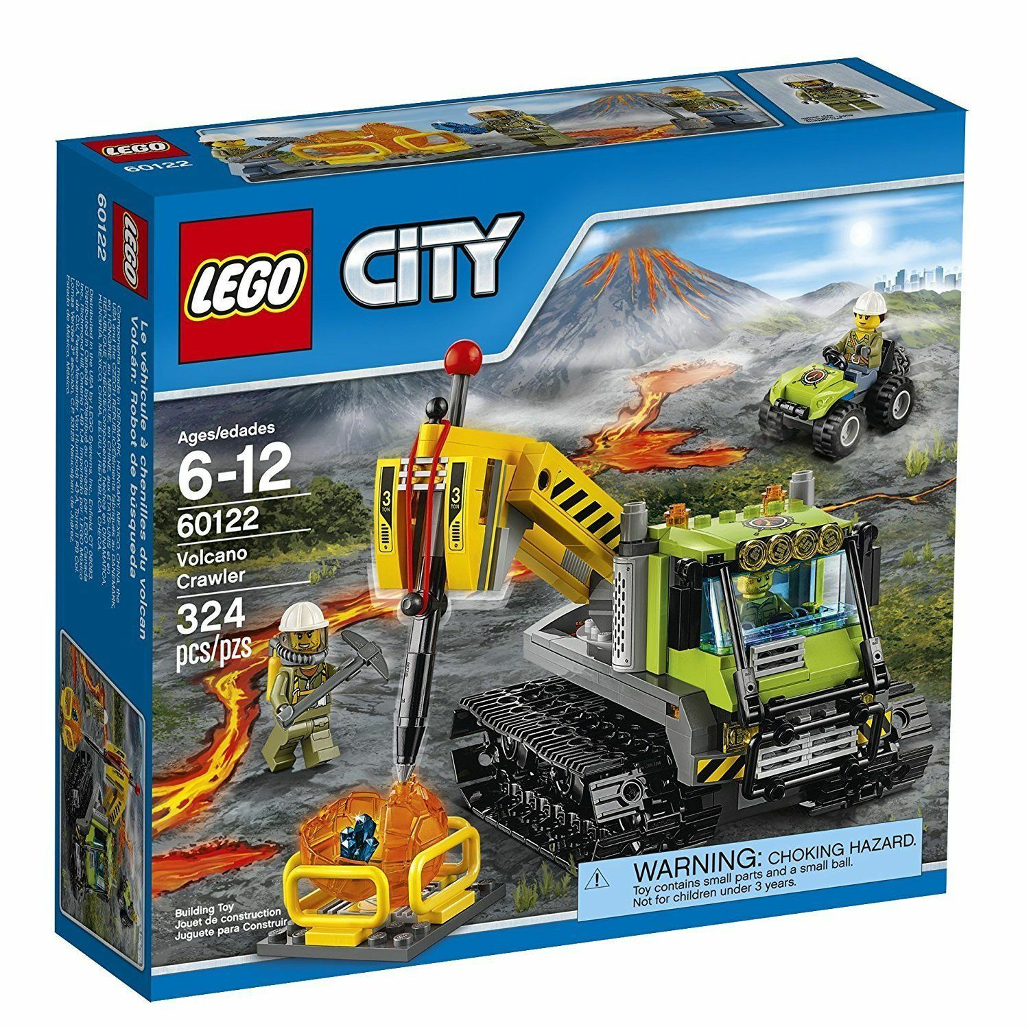60122 VOLCANO CRAWLER lego set LEGOS city town SEALED box NEW explorers